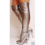 $1995 Christian Louboutin's Supra Fifre thigh high boots