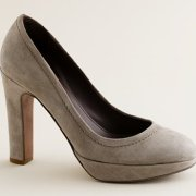 J. Crew's Coddington suede platform pumps $228.00