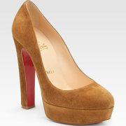 Christian Louboutin Bibi suede platform pumps $795.00 at Saks Fifth Avenue