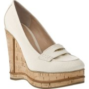 Chloe Cork Wedge Penny Loafers $276.00 at farfetch.com