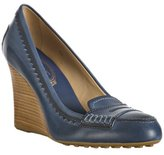 Tod's Newze Loafer Wedges $396.00 at Bluefly.com